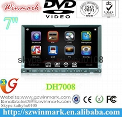 universal HD touch screen 2 din car cd mp3 7 inch dvd player DH7008