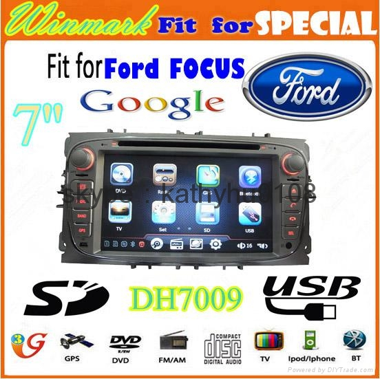 """7"""" Win CE 6.0 car dvd player for ford focus BT GPS 3g Stereo FM SWC touch screen 1"""