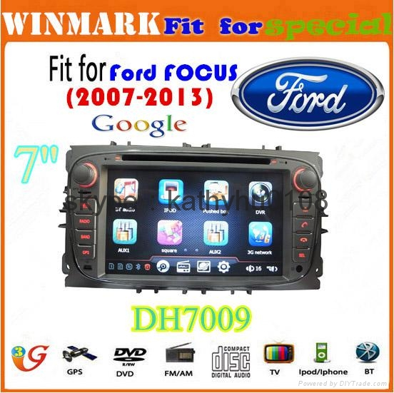"""7"""" Win CE 6.0 car dvd player for ford focus BT GPS 3g Stereo FM SWC touch screen 2"""