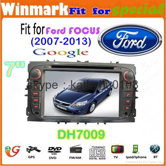 """7"""" Win CE 6.0 car dvd player for ford focus BT GPS 3g Stereo FM SWC touch screen 3"""