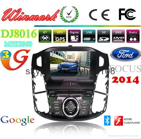 8'' 2din Ford FOCUS touch screen car DVD player with BT,GPS,Radio,DTV,VMCD,etc 4