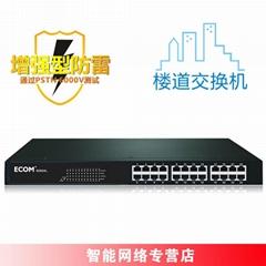 ECOM S2624L 24口樓道管理VLAN交換機