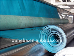 Green double side smooth hdpe film geomembrane sheet