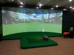 单屏环幕室内高尔夫模拟器