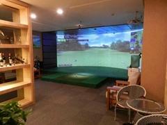 三屏环幕室内高尔夫模拟器