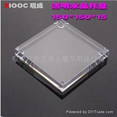 压克力有机玻璃.四方托盘展示台XI5001A