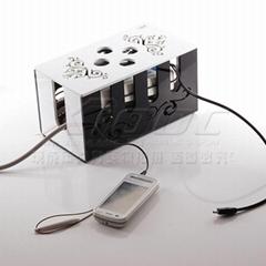 亞克力激光雕花 線盒理線器插座整理箱電線收納盒