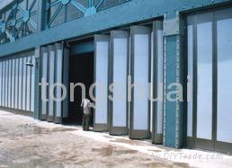 山東青島工業折疊門 1