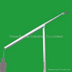 Hinged poles
