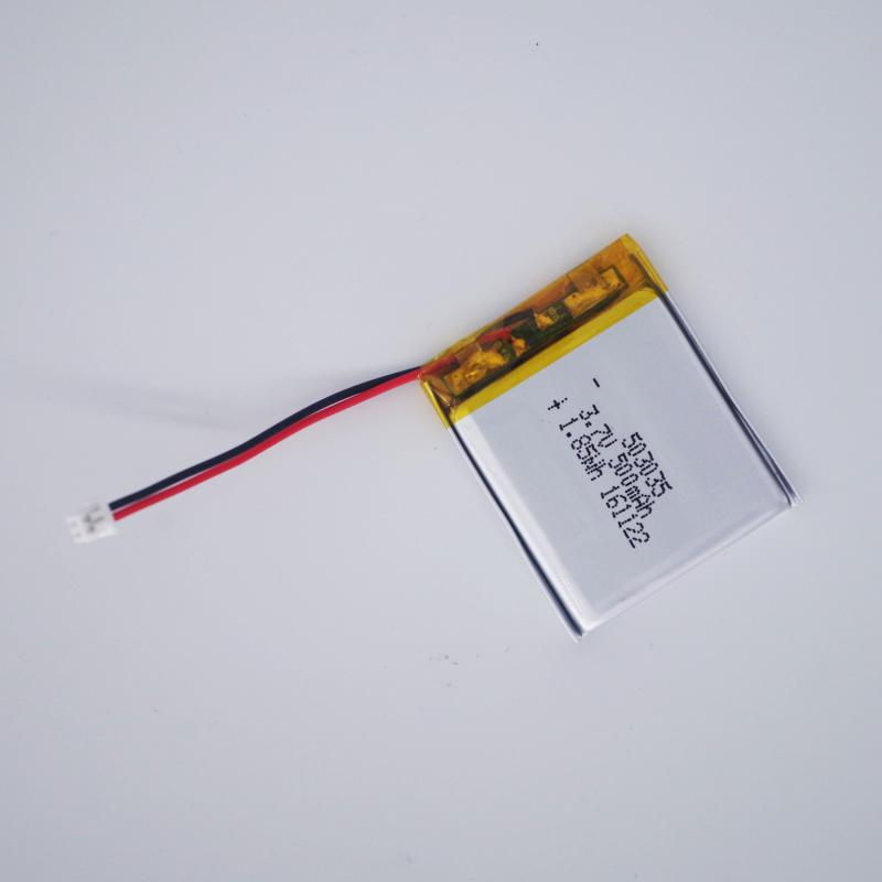 500mah 3.7v 503035 3.7V 500mAh 503035 Lithium Polymer Ion Rechargeable Battery  1