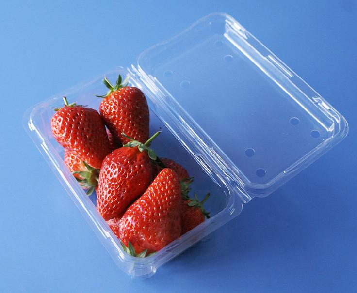manufactory plastic fruit packaging container 250 gram strawberry packaging box  3