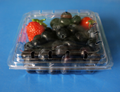 clamshells blister disposable  plastic blueberry packaging container 125 gramFDA 5