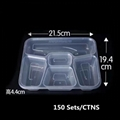 disposable plastic food container fast food container 4