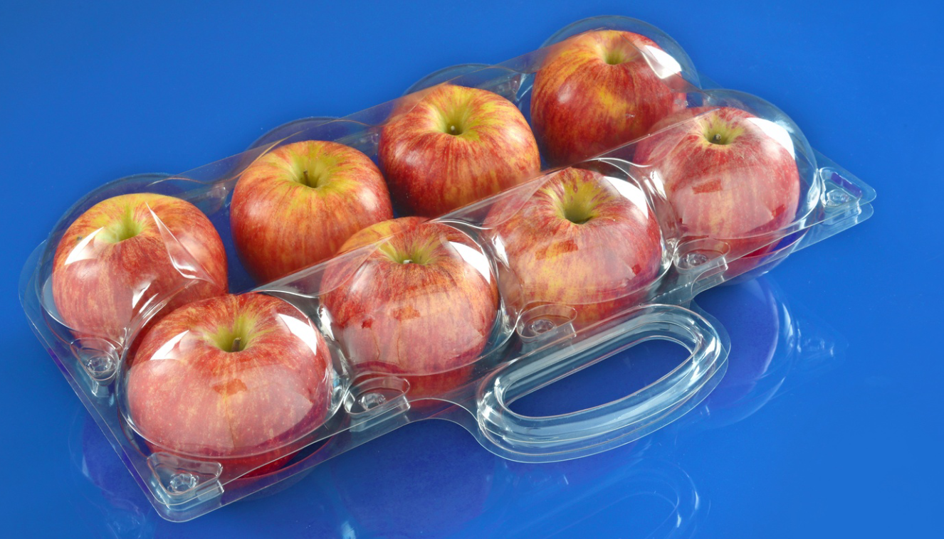 clamshells bilster plastic fruit packaging container for apple 2/3/4/6/8 pcs FDA 4