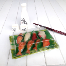 disposable plastic sushi packaging box PET PP food container for sushi FDA appro 5
