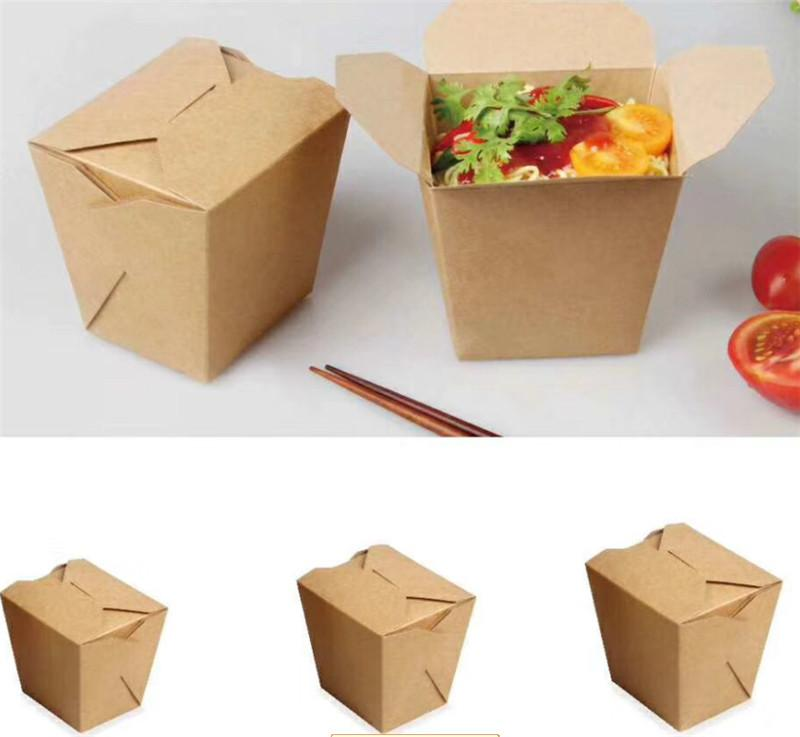 kraft packaging box take away box lunch box noodle packging box paper box  1