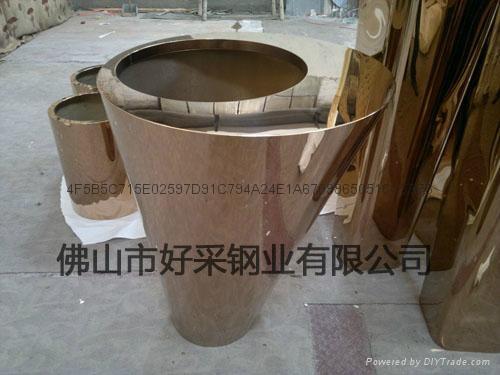 不锈钢花盆 2