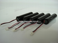 1S 3.7V Li ion Battery Pack 1S1P 18650 2600Ah with connector