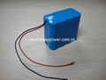 4S 14.8V Li ion 18650 Battery Pack 4S2P 4400mAh
