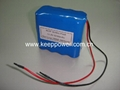 4S 14.8V Li ion 18650 Battery Pack 4S2P 5200mAh
