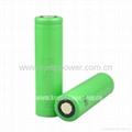 18650 2250mAh -Li ion 18650 Sony US186503 2250mAh IMR cell