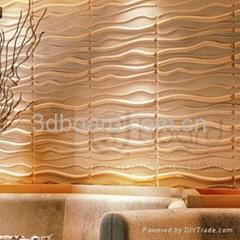 3dboard, wave panel MDF wall art