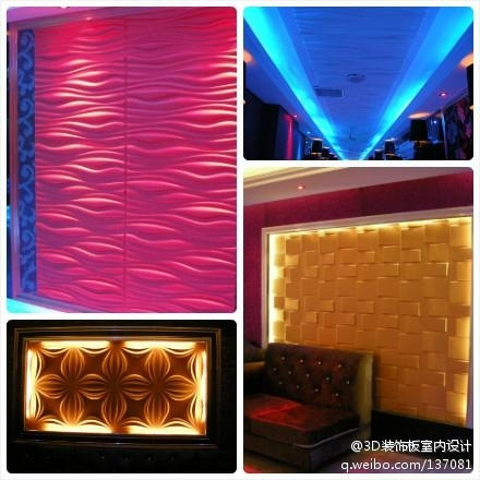 MDF board, wave panel 3D wall decorative tile covering art decor
