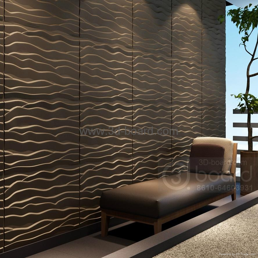 Mdf 3d wave panel wall decor beach dd275kat 0017 for 3d wall decoration panel