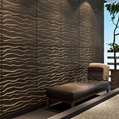 MDF 3D wave panel wall decor, beach
