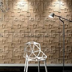 3D电视背景墙波浪板三递板-树皮纹
