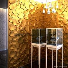 酷墙装饰三递板3D电视背景墙波浪板萍聚