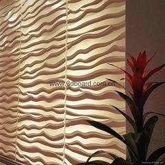 3D电视背景墙波浪板