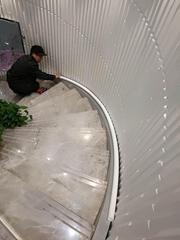 新款三維板3D背景牆立體波浪板