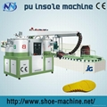 Double-head two color pu shoe-making