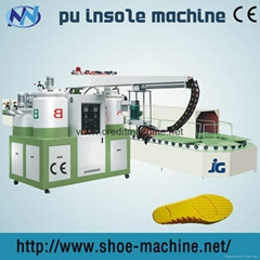 Double-head two color pu shoe-making sole pouring machine JG-803