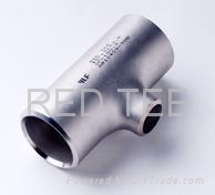Red tee stainless steel pipe fittings