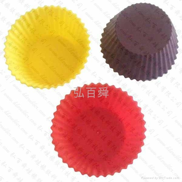 Silicon rubber mold silica gel cake cup cake cake tray silicone baking cup 1