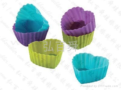 Silicon rubber mold silica gel cake cup cake cake tray silicone baking cup 2