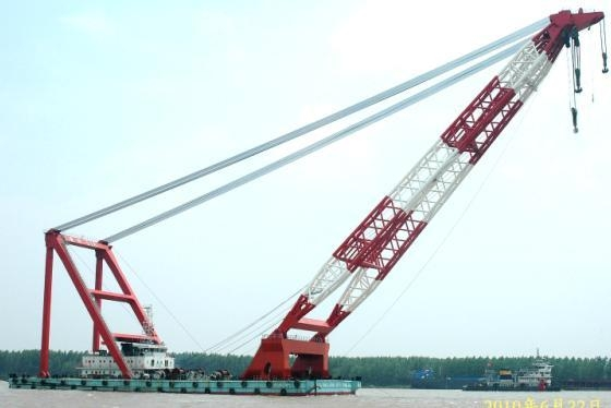 cheap floating crane sheerleg crane barge revo  ing floating crane 1