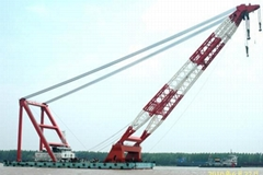 cheap floating crane sheerleg crane barge revo  ing floating crane