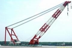 cheap floating crane sheerleg crane barge revolving floating crane