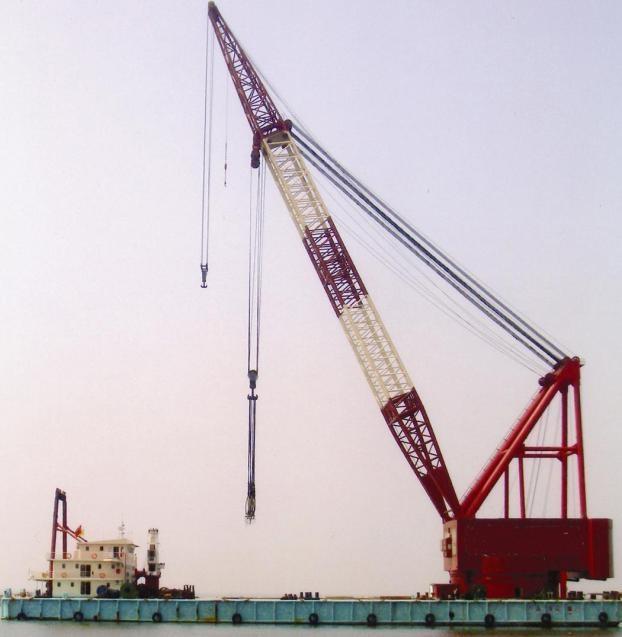 cheap floating crane sheerleg crane barge revo  ing floating crane 2