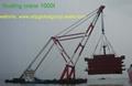 cheap floating crane sheerleg crane barge revo  ing floating crane 3