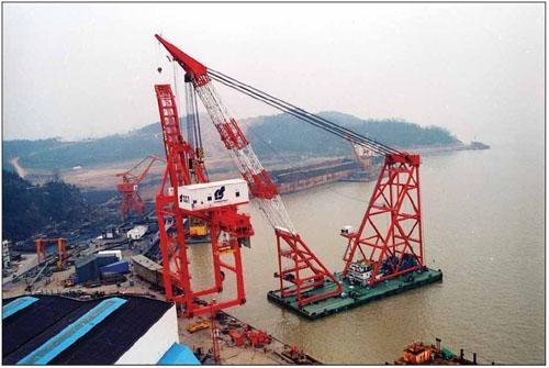 cheap floating crane sheerleg crane barge revo  ing floating crane 5