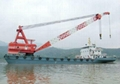 300t floating crane 300 ton crane barge for sale price 3 million only  1
