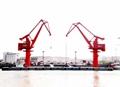 floating crane barge for bulk iron ore sand coal grab floating crane barge 1