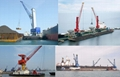 floating crane barge for bulk iron ore sand coal grab floating crane barge 2