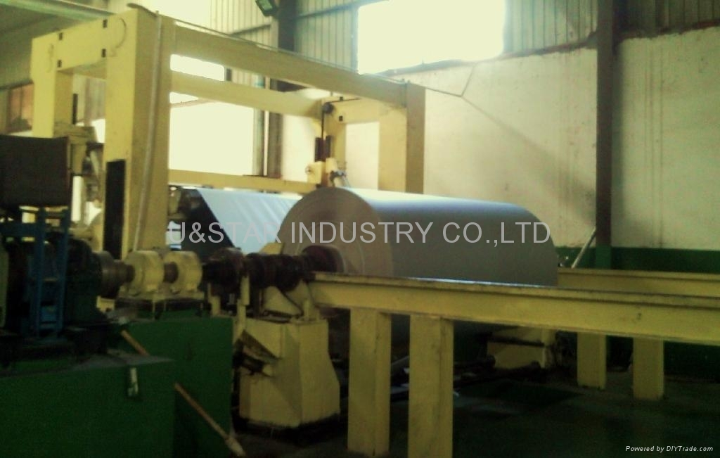 white/duplex board grey/white back cutting machine