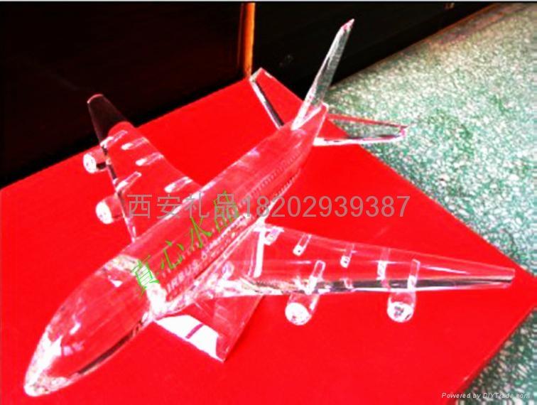 西安水晶飛機模型 1