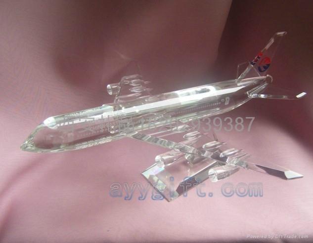 西安水晶飛機模型 3